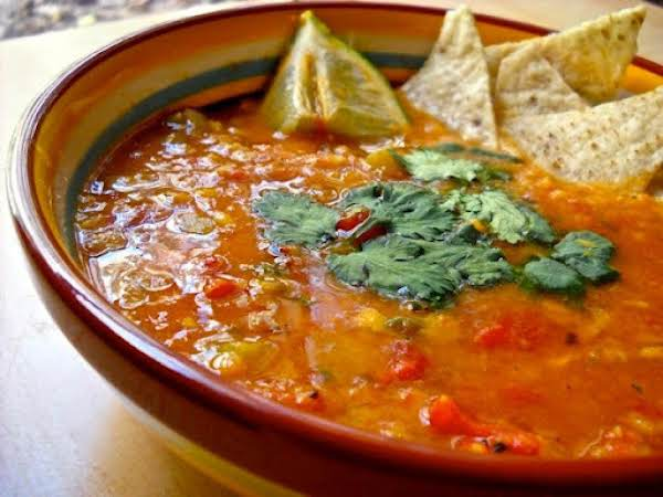 Mexican Lentil Soup With Chorizo Recipe