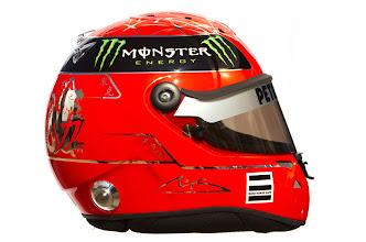 Photo: The helmet of Michael Schumacher (GER) Mercedes GP.Formula One Testing, Day 2, Jerez, Spain,  Friday 11 February 2011.