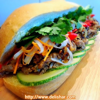 Lemongrass Beef Banh Mi