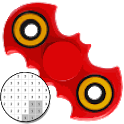 Fidget Spinner Color By Number - Pixel Art icon