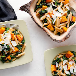 Penne with Butternut Squash & Kale