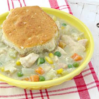 Easy Biscuit Chicken Pot Pie.