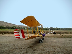 Photo: All set to go after some recent changes, June 2016   Bloop 3 usually takes off and lands on an unpaved strip in an open field.  With 200 square feet of wing and an empty weight of 204 lbs, add the weight of my body plus fuel and this motorfloater still has a radically light wing loading (less than 2 pounds per square foot of wng), allowing it to fly slow and turn sharply.
