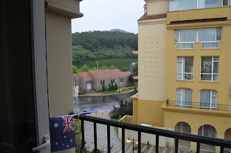 Photo: view from our window at Campus Village at Dalian American International School
