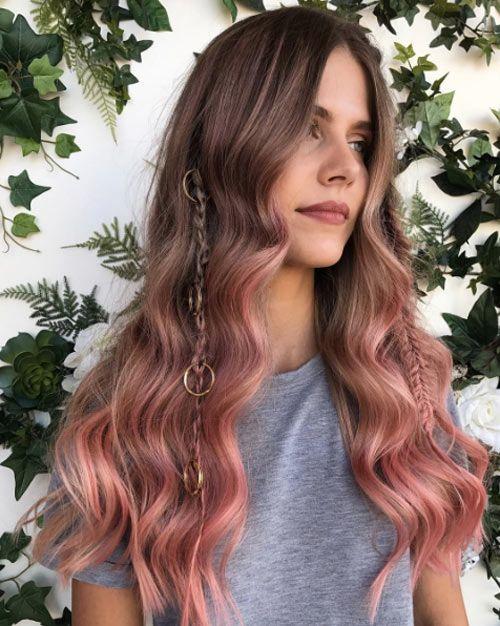 highlights-for-dark-brown-hair-rosegold