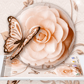 White Rose Butterfly Theme