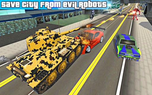 US Army Robot Transformation Jet Robo Car Tank War 1.2 screenshots 7