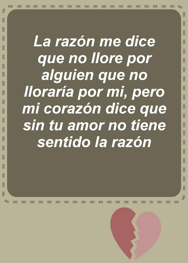 Heartbreak Quotes - Spanish - Android Apps on Google Play