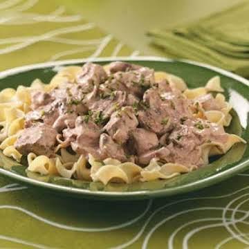 Slow Cooker Beef Stroganoff Recipe