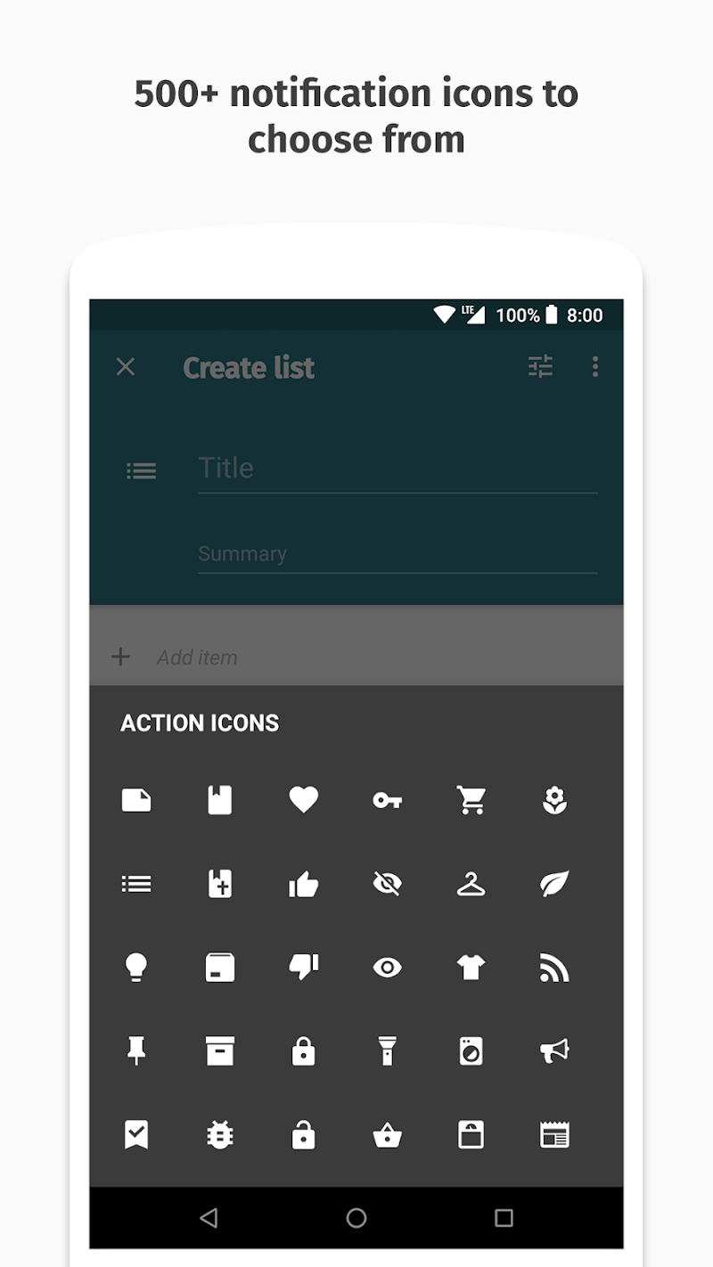 Collateral - Create Notifications Screenshot 2