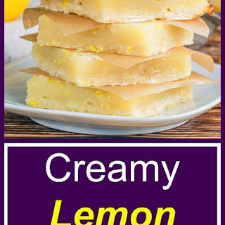 Creamy Lemon Bars.