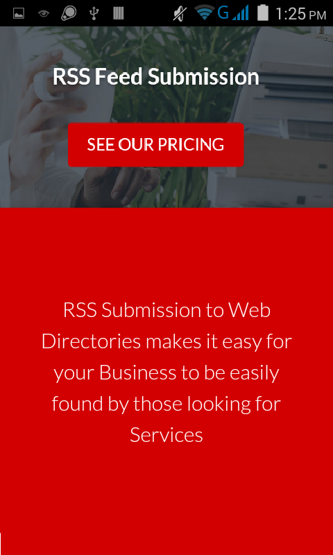 Blog Submission Service- screenshot