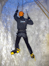 Photo: Ice climbing in London at Vertical Chill