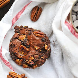 Olive Oil Brownies With Candied Bacon + Pecans.