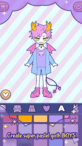 BatDoll Pastel goth dress up boy APK MOD (Astuce) screenshots 2