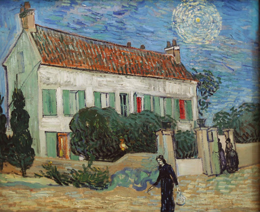 "van-gogh-white-house-at-night.jpg -  Vincent van Gogh, ""The White House at Night"" (no, not that White House), 1890, oil on canvas, at the Hermitage at St. Petersburg, Russia."