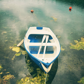 Boat by Mane Manich - Uncategorized All Uncategorized ( boat sea abstract reflection colour no people nobody )