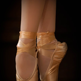 Little slippers by Tracy Riedel-Dorsch - People Fine Art ( slippers, point, ballerina slippers, ballerina, stage,  )