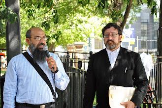 Photo: To the Mr. Mahjoub's left is his lawyer Paul Slansky.