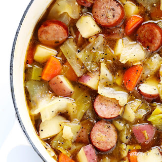 Cabbage, Sausage and Potato Soup.