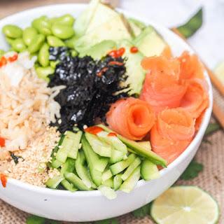 Sushi Bowl with Smoked Salmon, Avocado and Edamame Recipe