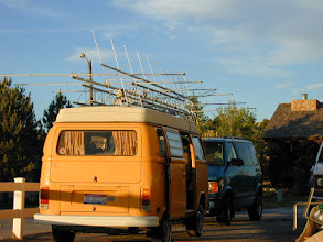 Photo: Trusty VW Ready to roll  VHF Contest, KØIP      (k0ip)