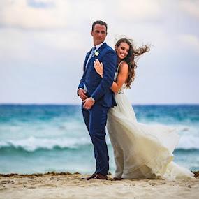 by Adam Snyder - Wedding Bride & Groom