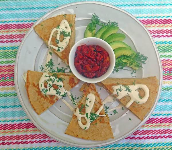 A Fun Breakfast To Enjoy With Friends And Family - Crab, Egg And Pepper Breakfast Quesadillas.