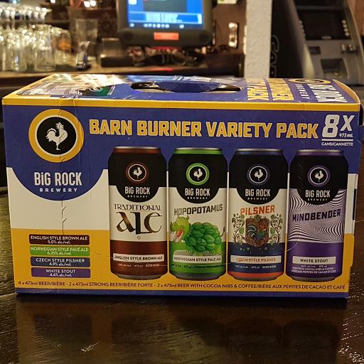 Big Rock Barn Burner Variety Pack 8 pack