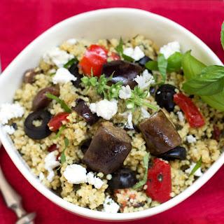 Roasted Eggplant Couscous Salad