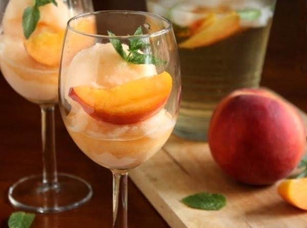 Peach Sangria Sorbet Recipe