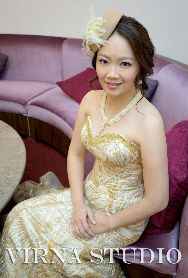 bride,新娘,台北新娘秘書,台北新秘,英式禮帽,金色魚尾,新秘推薦