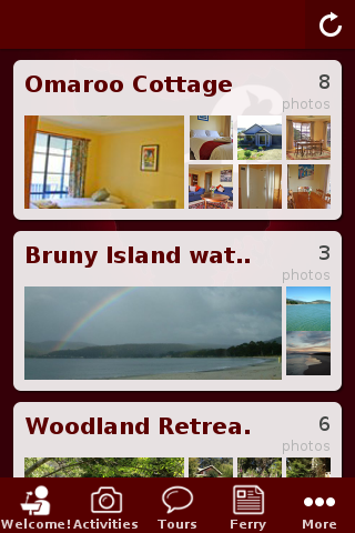 Bruny Island Visitor Guide- screenshot