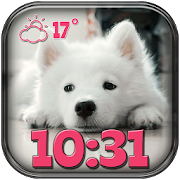 Puppies Weather Clock Widget
