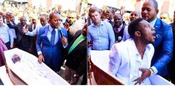 Pastor Alph Lukau praying for a 'dead man'