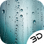 Rainy Blue Water Drop Glass Live 3D Wallpaper icon