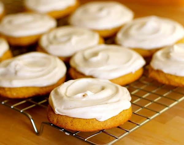These Pumpkin Cookies Are Not Only Simple And Easy To Make, But A Melt-in-your-mouth Cookie Topped Cream Cheese Frosting.