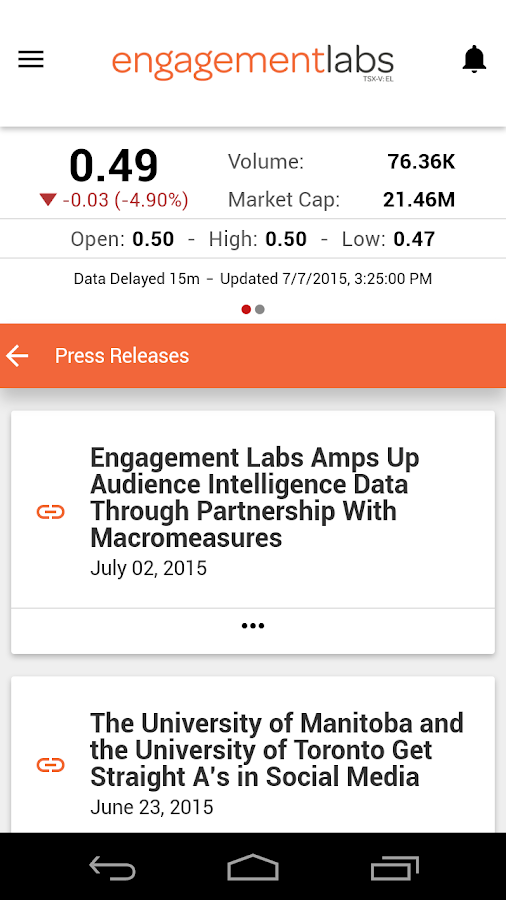 Engagement Labs- screenshot