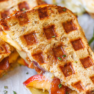 Peach Bacon Brie Grilled Cheese Recipe