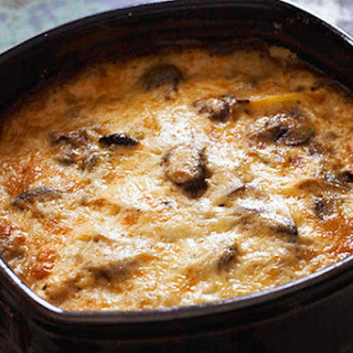 Potato Gratin with Mixed Mushrooms