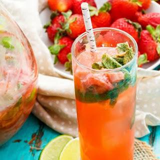 Garden Fresh Strawberry-Rhubarb Mojitos Recipe