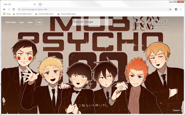 Mob Psycho 100 HD Wallpapers Anime New Tab