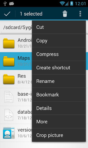 OI File Manager screenshot 2