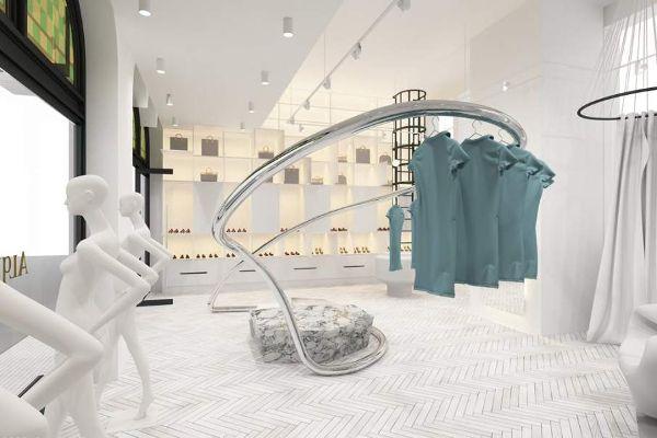 Дизайнеры используют 3D печать для оформения интерьера модного магазина