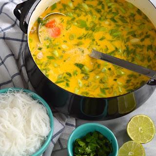 Thai Style Chicken Noodle Soup.