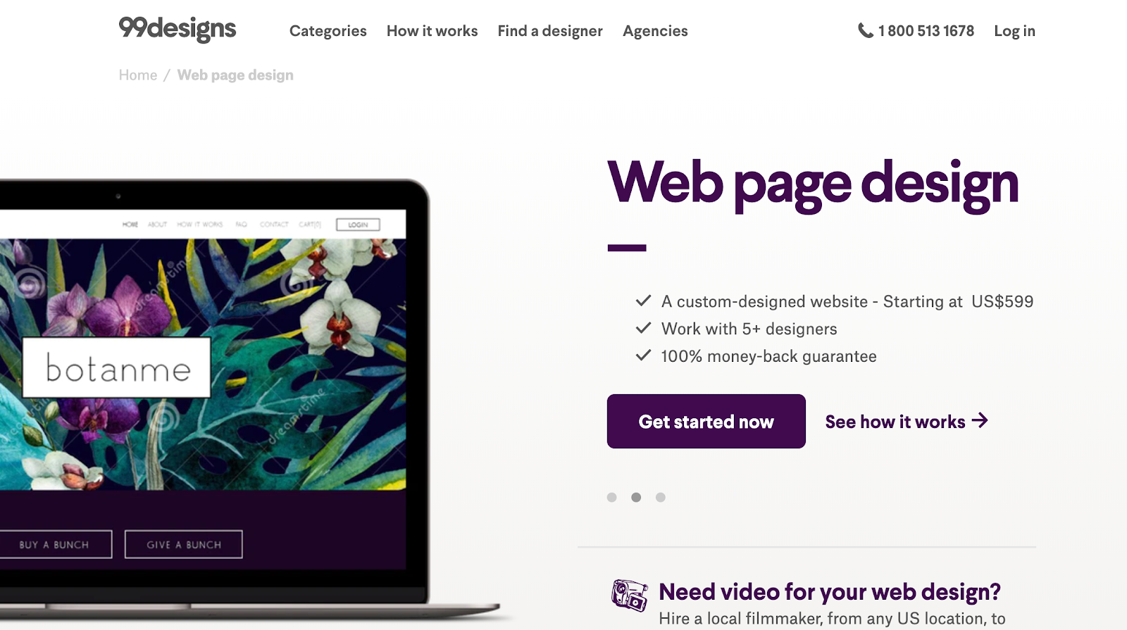99designs offers affordable web design services