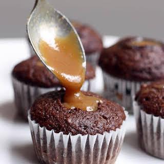 Caramel Filled Chocolate Cupcakes.