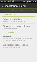screenshot of GO LauncherEX Italian language