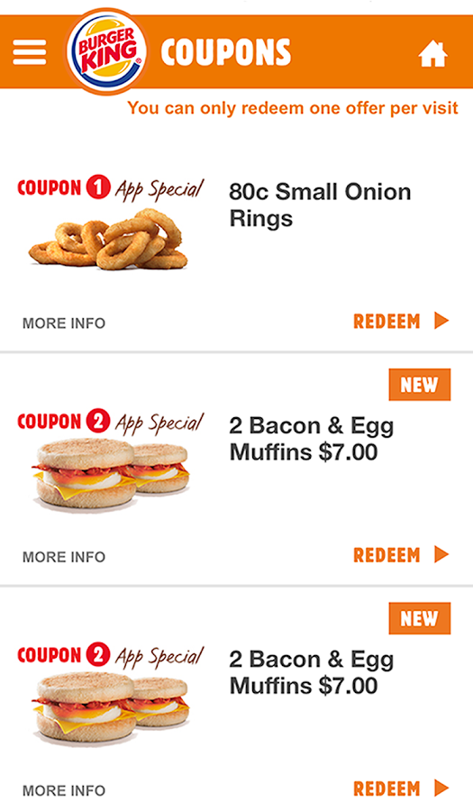 BURGER KING® App - New Zealand- screenshot