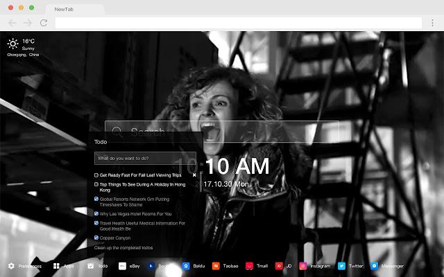 Black mirror popular TV HD new tab page theme